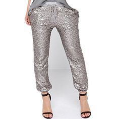 New Trending Pants: Wiipu Womens Sequins Drawstring Loose Casual Capris Pants Trousers(J694)Large Silver. Wiipu Women's Sequins Drawstring Loose Casual Capris Pants Trousers(J694)Large Silver   Special Offer: $29.99      488 Reviews Compare the detail sizes with yours, please allow 1-2cm differs due to manual measurement, thanks (All measurement in cm and please note...