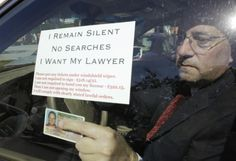 MIAMI (AP) — Drivers at drunken-driving checkpoints don't have to speak to police or even roll down their windows. They just have to place their license and registration on the glass, along with a note saying they have no comment, won't permit a search and want a lawyer. At least, that's the view of a South Florida attorney.