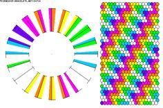 K4734 - friendship-bracelets.net  Strings: 40 Colors: 7