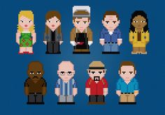 Firefly TV Characters - Digital PDF Cross Stitch Pattern    This is a digital PDF file of a cross stitch pattern. You will need to have a PDF