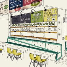 Sketches: скетч-концепт для кафе-brasserie. #дизайн #дизайнер #скетч #концепт #интерьер #ресторан #кафе #кафедизайн #cafe #brasserie #дизайнресторанов #design #designer #restaurant #restaurantdesign #restaurantdesigner #concept #sketch #almaty #алматы #атырау #atyrau #bypanayev