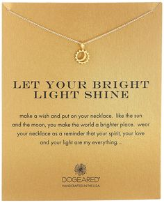 Dogeared Reminder Let Your Bright Light Shine Sun and Moon Pendant Necklace, 16.25' ** Find out more about the great product at the image link.