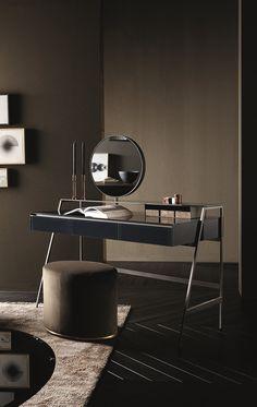 Lou, pouf covered by velvet -  Venere, vanity desk