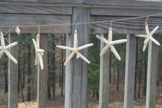 Beach Wedding Decor, Starfish Garland, Bridal Shower Decor, Engagement Party Decorating, Wedding Decor, Home Decor. $49.00, via Etsy.