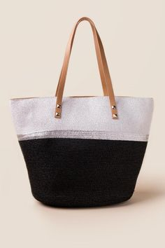 Marcy Colorblock Beach Tote