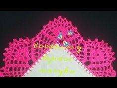 Crochet Edging Patterns, Crochet Borders, Filet Crochet, Crochet Lace, Crochet Stitches, Crochet Videos, Chrochet, Crochet Projects, Embroidery Designs