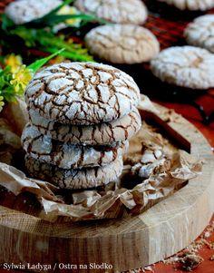 POPĘKANE CIASTECZKA CZEKOLADOWE - TYGRYSKI Tyga, Food And Drink, Cooking Recipes, Cookies, Chocolate, Sweet, Christmas, Life, Crack Crackers