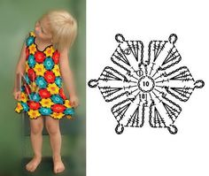 vestido para niñas a crochet ~ Solountip.com