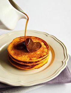 Pumpkin Pancakes with Cinnamon Butter