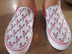 Pink flamingo Vans--i used to have these exact ones!! Everyone LOVED them!!