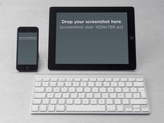 Create Instant Screenshots! iPhone iPad Keyboard  Placeit Stage Image
