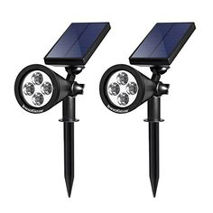 InnoGear Solar Lights Spotlight Outdoor Landscape Lighting Waterproof Wall  Light Security Night Lights #deals