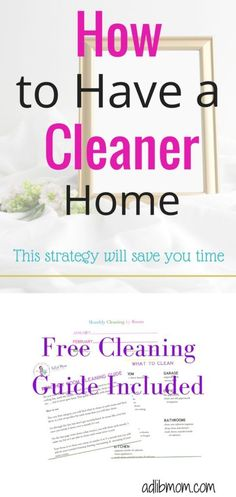 Transform The Way You Clean by Cleaning One Room a Month. Keep your home clean with step by step free cleaning guide. #freeprintable #cleaning #cleaningguide #clean #home