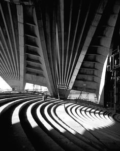 The acclaimed photographer Max Dupain documented the construction of the Sydney Opera House. The beauty of its internal structure is shown in this Dupain