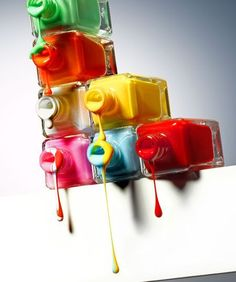 So Cool! Dripping Nail Polishes.