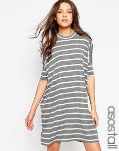 ASOS TALL T-Shirt Dress in Stripe