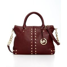 MICHAEL Michael Kors Handbag, Astor Medium Shoulder Satchel ($109) ❤ liked on Polyvore