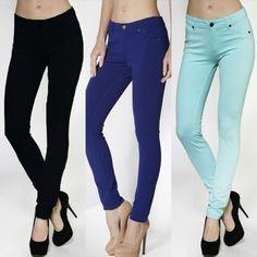 Active USA Women's Stretch Rayon Pants Black, Mint, R Blue S~L #ACTIVEUSA #CasualPants
