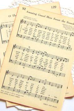 Vintage Hymnal Book Pages. Hymns. Vintage Sheet Music. Bible Journal. Prayer Journal. Bible Verse. Junk Journal Supply. Paper Pack. Psalm.