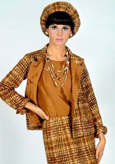 Chanel 1960 | Kitschy Vintage Clothing / A model wearing Chanel in the 1960s