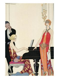 Incantation, Illustration for 'Gazette Du Bon Ton', 1922 (Pochoir Print) Giclee Print by Georges Barbier at AllPosters.com