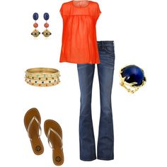Lapis & Coral, created by vintagesparkles78 on Polyvore