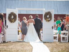 Set Up A Temporary Door Frame For An Outdoor Wedding To Get The Same Reveal…