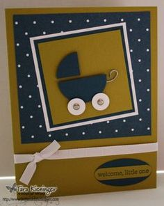 Stampin Up Punch Art Cupcake | Punch Art Baby Carriage Card by tkieninger - Cards and Paper Crafts at ...