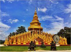 thailandhere: พระมหาเจดีย์ 500 ยอด วัดป่าสว่างบุญ สระบุรี The Gr...