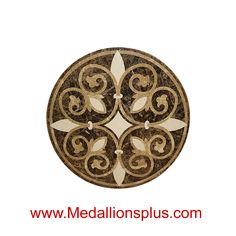 Medallions Plus provides specialty stone products like floor medallions made of marble, travertine, tile and more. Marble Stones, Stone Tiles, Geometric Tiles, Stone Flooring, Flooring Ideas, Marble Mosaic, Tile Floor, Mosaic Floors, Tile Design
