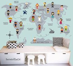 Polka dot wall art nursery circle stickers boys nursery art world map decal map decal world map children wall decal map wall decal world decal nursery decal map gumiabroncs Images