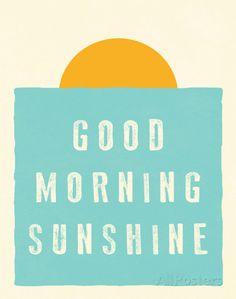 Good Morning Sunshine Impressão artística