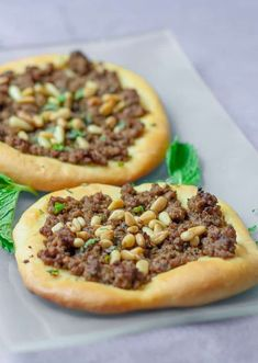 Turkish Meat Pies with Arabic spice mix, mint and pine nuts. Amazing flavors and… Turkish Meat Pies with Arabic spice mix, mint and pine nuts. Amazing flavors and so delicious. Plus a bonus recipe for the Arabic spice mix. Lebanese Meat Pies, Lebanese Recipes, Turkish Recipes, Arabic Recipes, Entree Recipes, Pie Recipes, Cooking Recipes, Drink Recipes, Cooking Tips