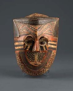 Africa | Box for redwood powder from the Kuba people of DR Congo | Wood, pigments and paint.