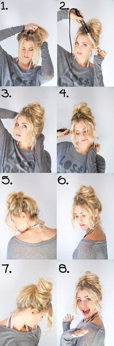 30 Perfect Messy Bun Hairstyles for Long Hair + Tutorials Today messy hair is wo. - 30 Perfect Messy Bun Hairstyles for Long Hair + Tutorials Today messy hair is worn not only in casu - Bun Hairstyles For Long Hair, Hair Dos, Trendy Hairstyles, Popular Hairstyles, Knot Hairstyles, Second Day Hairstyles, Amazing Hairstyles, Easy Hairstyle, Party Hairstyles