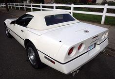 1986 White Corvette Back