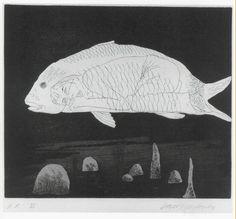 David Hockney, The Boy Hidden in a Fish, 1969, Alan Cristea Gallery