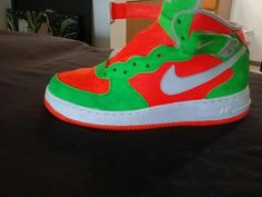 more photos a9f3f 45efd Custom Nike Air Force 1 sneakers featuring Neon colors