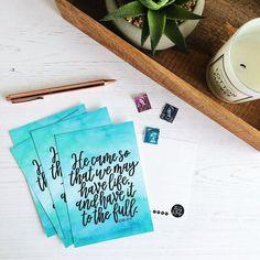 Life To The Full John Postcard Packs Christian Hand Lettering, Postcards, Encouragement, Christian, Pop, Feelings, Etsy, Life, Popular