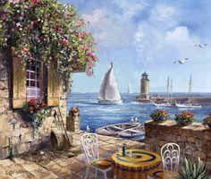 Leuk terrasje aan zee