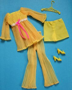 Barbie Lemon Kick Complete 1465 Excellent Vintage | eBay Old Barbie Dolls, Vintage Barbie Clothes, Barbie And Ken, Vintage Outfits, Barbie Barbie, Barbie Stuff, Vintage Toys, Doll Clothes, Barbie Wardrobe