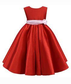 Vestido de fiesta para niña rojo