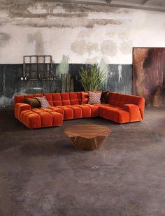 Unique Living Room Furniture, Living Room Sofa Design, Dream Furniture, New Living Room, Living Room Designs, Living Room Decor, Furniture Design, Living Room Floor Plans, Modul Sofa