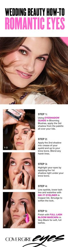 This simple tutorial for romantic eyes requires only 3 products – an eyeshadow palette with 4 soft, pink shades, a shimmering gold eyeliner and a mascara that makes lashes look soft, full and gorgeous. The overall effect is a natural, classic makeup look. Beauty Secrets, Beauty Hacks, Beauty Tips, Beauty Make Up, Hair Beauty, Classic Makeup Looks, Gold Eyeliner, Eye Make Up, Skin Makeup