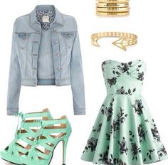 very cute outfit for spring. Or Easter maybe