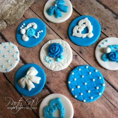 EDIBLE Fondant Cupcake or Cookie Toppers  Tiffany by PartyNV, $36.00