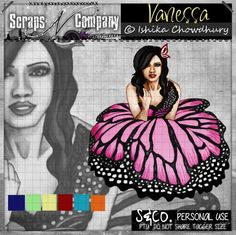 "Tube ""VANESSA"" by Ishika Chowdhury http://scrapsncompany.com/index.php?main_page=product_info&cPath=161&products_id=8068"