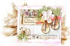 Prima Flowers Handmade Greetings card or would make an amazing Wedding invitation.