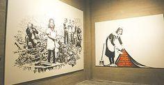 The Art of Banksy siert Antwerpse Stadsfeestzaal