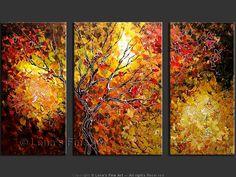 Original Palette Knife canvas paintings, p.